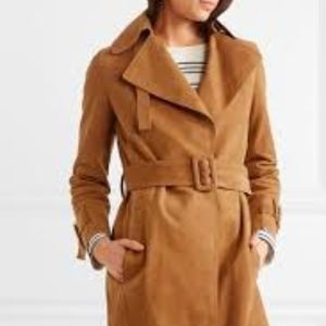 Vince Belted Suede Trench Coat, Size XS